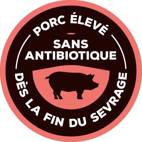 Porc élevé sans antibiotique